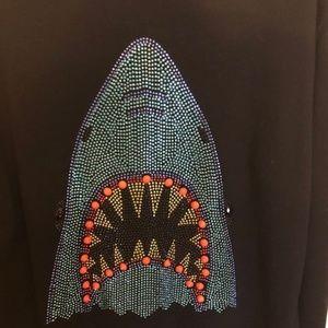 Forever 21 Tops - Forever 21 Shark Bling Sweatshirt - Size Large